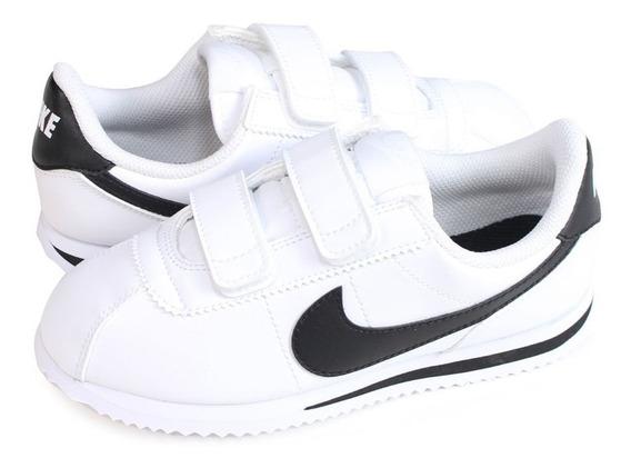 Tenis Nike Basico Ps Niños Clasico Retro Original Piel Sl