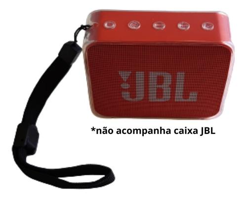 Imagem 1 de 10 de Case Capa Compatível Jbl Go 2 Tpu Proteção C/ Alça Ajustável