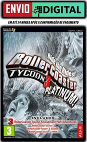 Rollercoaster Tycoon 3: Platinum - Português - Envio Digital
