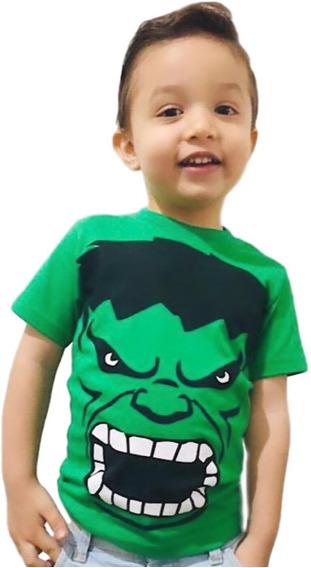 Camiseta Infantil Personagens Manga Curta Heróis Kit C/ 6 Peças + Brinde