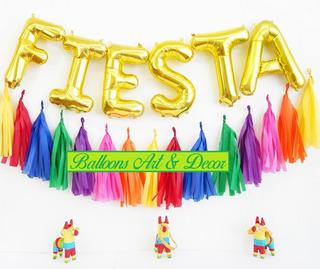 Guirnalda Decorativa 15 Pompones Para Su Fiesta Y Globos