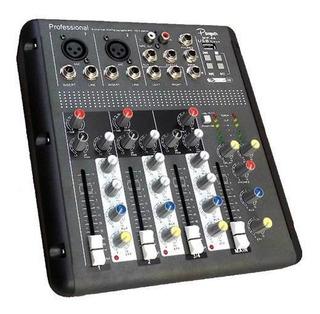 Parquer Mip-4a Consola Mixer 4 Ch Pahntom Power Con Usb Y Ef