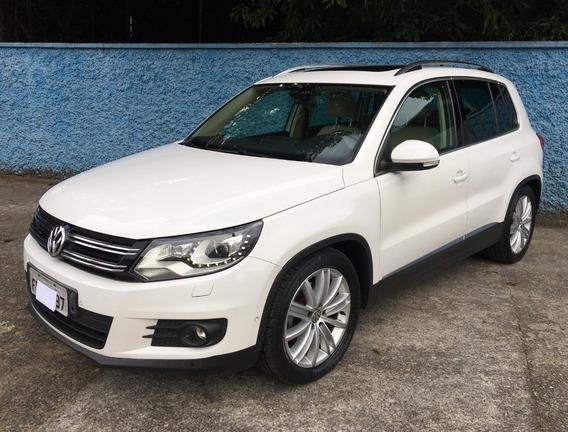 Volkswagen Tiguan 2.0 Tsi 2013 Branca Interno Bege Teto Top