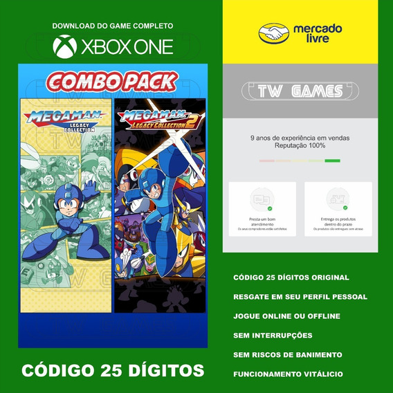 Mega Man Legacy Collection Codigo 25 Digitos Xbox Fat S X