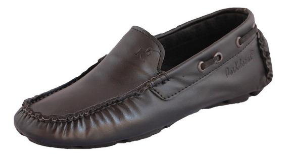 Zapatos Driver Mocasines Peskdores Black Liso Bl00100