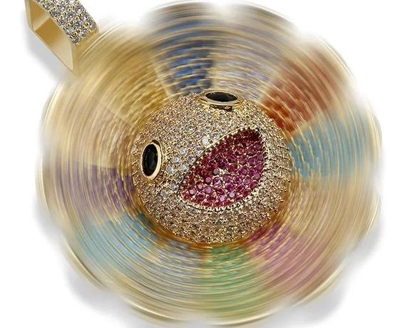 Colar Spinner Takashi Murakami Zirconias Flor Do Sol Hip Hop