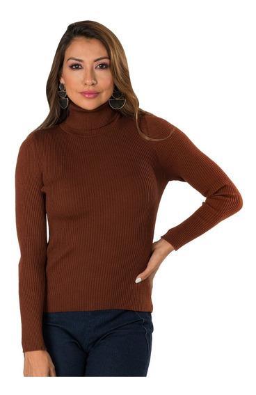 Sueter Dama Basico Cuello Tortuga Sweater Cardigan Moda