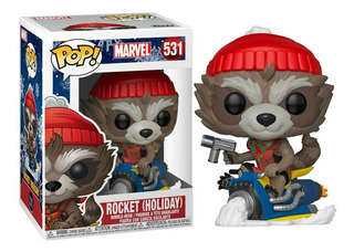 Funko Pop Holiday Rocket Raccoon On Sled