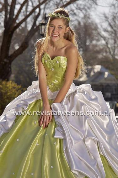 Vestido De 15 Hecho Verde Manzana Nuevo Novias Nanci