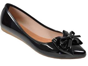 953b36e5f60 Sapato Ou Sapatilha Feminino Brilhante Sapatilhas Milano - Sapatos ...