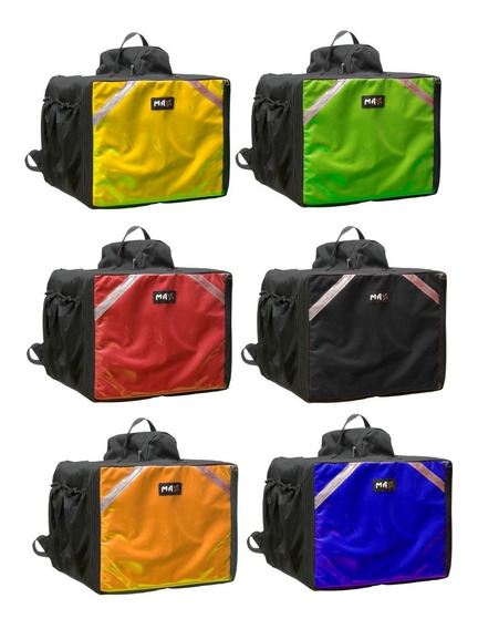 Uma Bag Bolsa Mochila De Pizza Lanches Caixa Isopor Completa