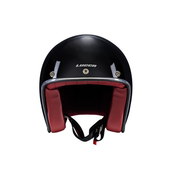 Capacete Cafe Racer New Glossy Black Lucca + Viseira + Pala