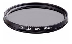 Filtro Circular Polarizador Cpl 58mm P/ Canon Nikon Sony