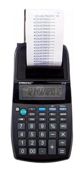 Calculadora De Impressão Procalc Lp18 12 Dígitos