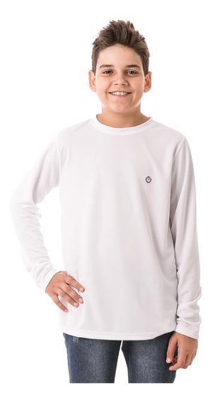 Camisa Infantil Manga Longa Dry Proteção Solar Extreme Uv