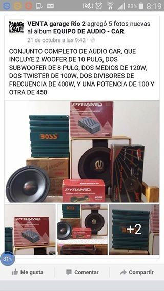 Equipo Audio Car / .