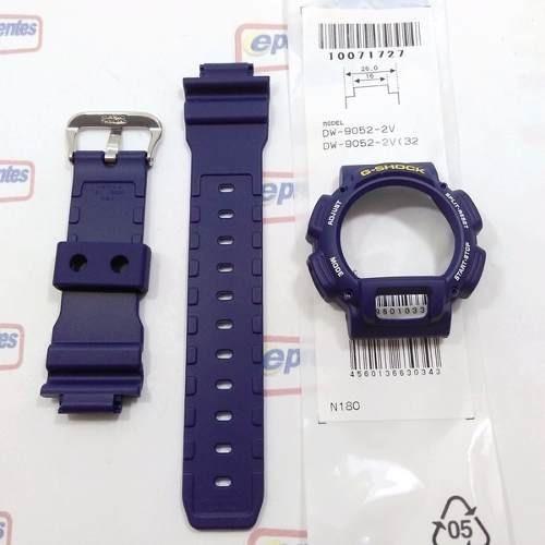 Pulseira + Bezel Casio G-shock Azul Dw-9052 Dw-9050 Original