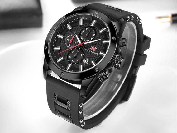 Relógio Masculino Analogico Preto Social Presente Mini Focus