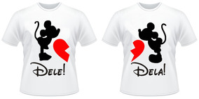 Camiseta Kit Mozão Mickey E Minnie #2