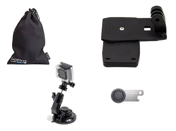 Kit Sacola Chave Clipe Ventosa Gopro Acessórios