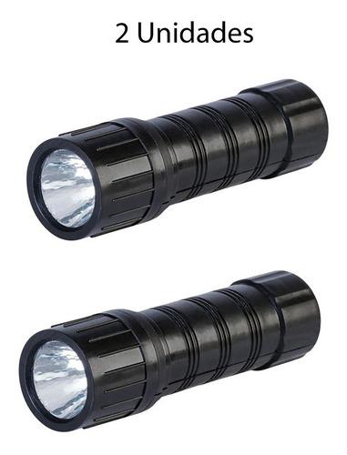 Mini Lanterna Led A Pilha - 2 Unidades - Luz De Emergência