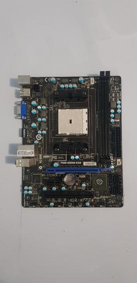 Placa Mãe Com Defeito Socket Fm2 Msi Fm2-a55-e33 Ddr3 A55