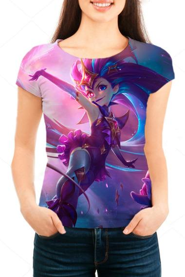 Camiseta Babylook Feminina Lol Zoe Guardiã Estelar - Mn01