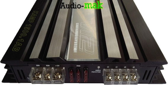 Amplificador Krack Kamp1500.1ab Clased 3000w Control De Bajo