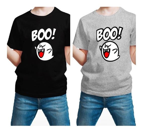Playera Super Mario Bros Boo Ghost Fantasma Niño Con Envio