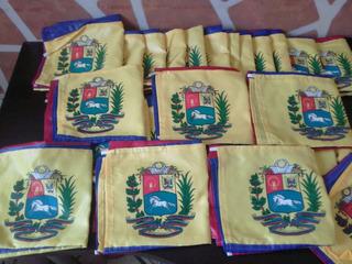 Bandera De Venezuela 60cm. X 90cm. Con Escudo Y Asta