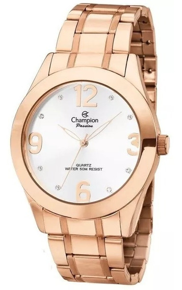Relógio Feminino Rosê Champion Ch24268z Original