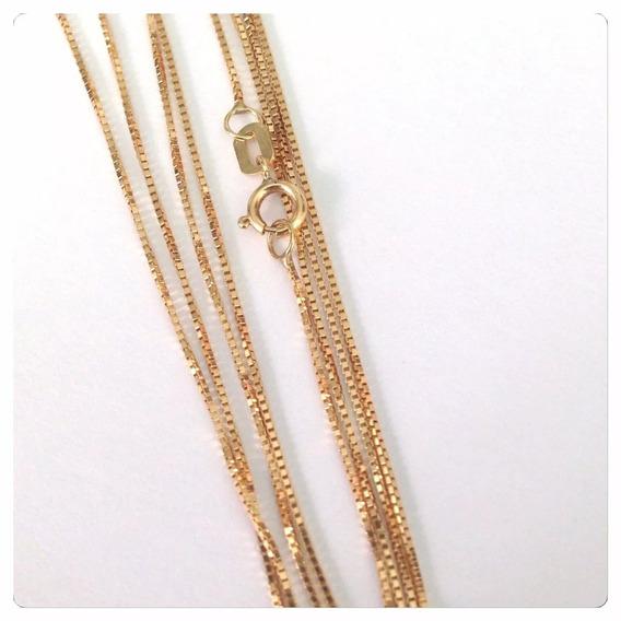 Corrente De Ouro 18k 750 Cordão De 45 Cm Cordão Luxo