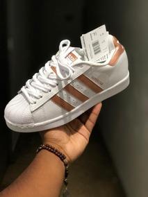 60f5a5a8cebf Tenis Adidas Superstar Feminino Branco Original Rose - Tênis com o ...