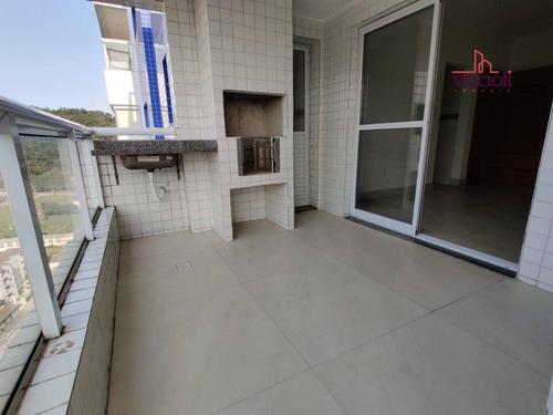 Apartamento Com 2 Dormitórios À Venda, 87 M² Por R$ 500.000,00 - Canto Do Forte - Praia Grande/sp - Ap1648