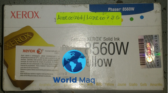 Bastão Cera Xerox 8560/8560mpf Yellow C/3 Original 108r00725