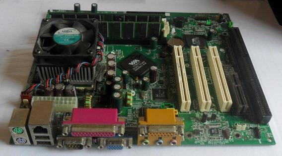 Kit Msi Via 8601t Ms 6368+ P3 1.1ghz+ Cooler+ 512mb Slot Isa