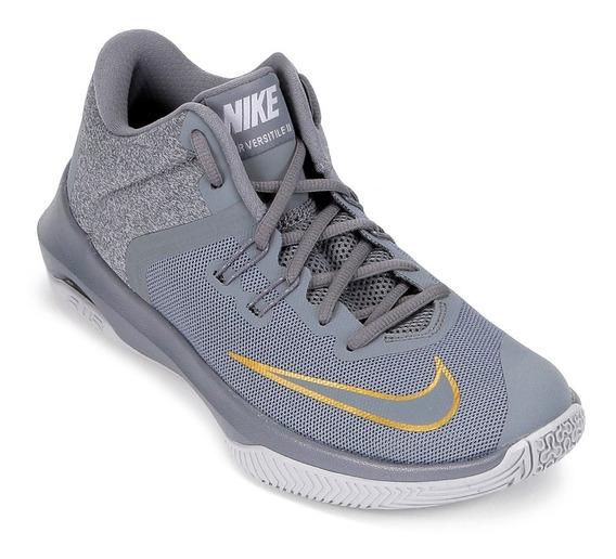 Tenis Masculino Nike Air Versitile Ii Basquete - Cinza
