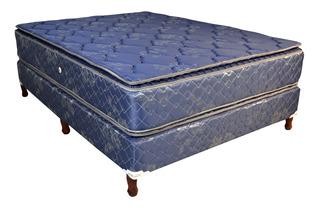 Somier 2p Colchon Melto Real Doble Pillow 140x190 30 Cm Alto