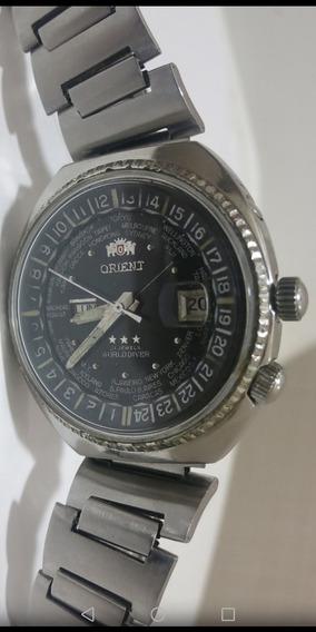 Orient Automatico Negro Grande Orijinal Japan,raro Ver Ese
