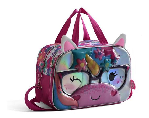 Bolso Unicornio Zoobags Metalizado Termoformado Original