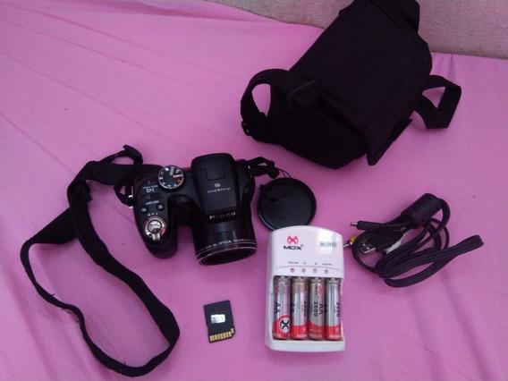 Câmera Fujifilm-s2980 Vem: Carregador, Pilhas, Cabo E Cartão