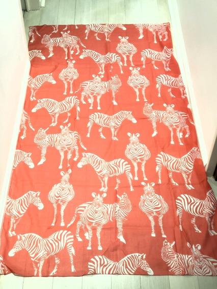 Pareo Importado De La India Coral Diseño Cebras. Divino.
