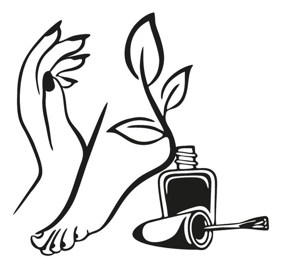 Adesivo De Parede Salão Unhas Mão Pé Esmalte Manicure 100x95