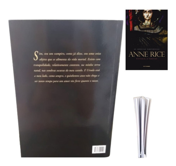 Vittorio O Vampiro Livro Anne Rice + Brinde Marcador Página