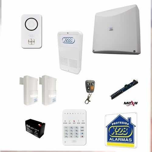 Kit Alarma X28 8 Zonas Casa Residencia Lista Para Instalar
