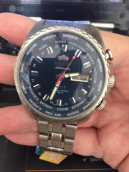 Relógio Orient Automático Hora Mundial
