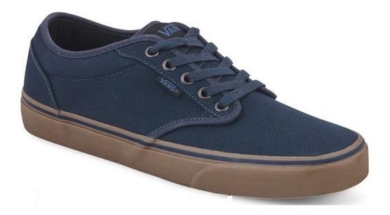 Originales Tenis Vans Hombre Azul Textil