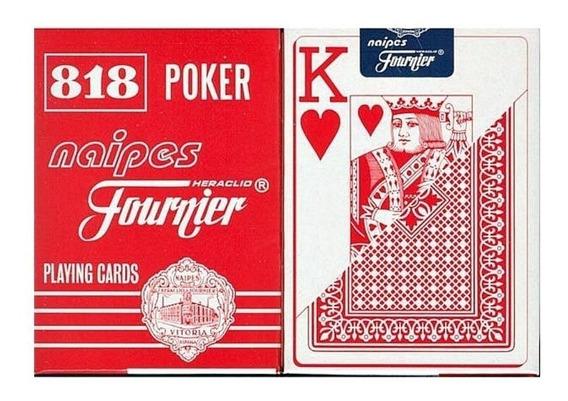 Juego Cartas Poker Naipes Fournier Rojo/negro