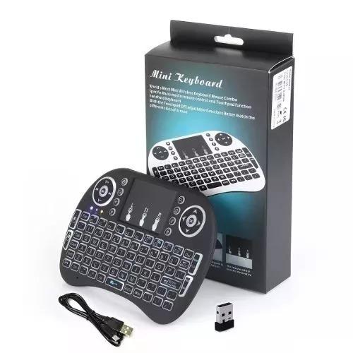 3mini Teclado Air Mouse Touch Sem Fio Tv Box Wireles Com Luz