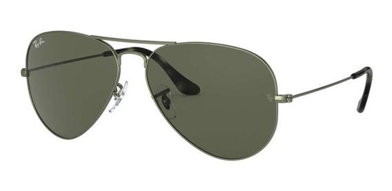 Ray-ban Aviator Classic; Frame: Green Metal-lens:green G-15